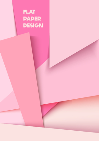 Abstract polygonal background flat paper design