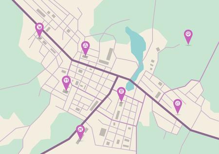 city map Vector illustration.