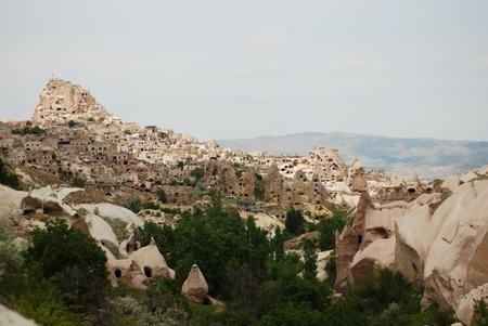 Fantastic stone landscapes of Cappadocia in Turkey