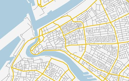 Vector abstract city map in soft colors