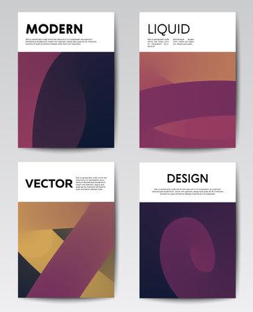 Trendy liquid design template for document cover Vektorové ilustrace
