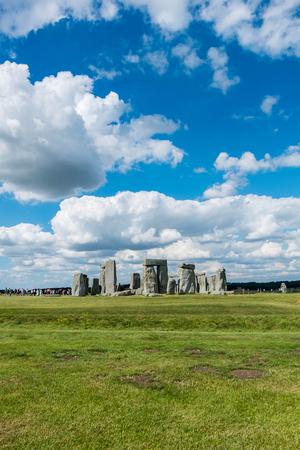 Stonehenge, England. United Kingdom. with blue cloudy sky.