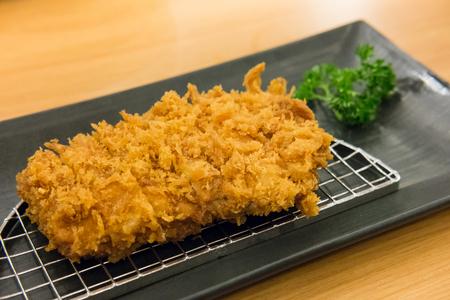 Tonkatsu, Fried Pork serve on plate in restaurant
