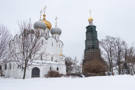 Novodevichy Convent, the best-known cloister of Moscow, Russia