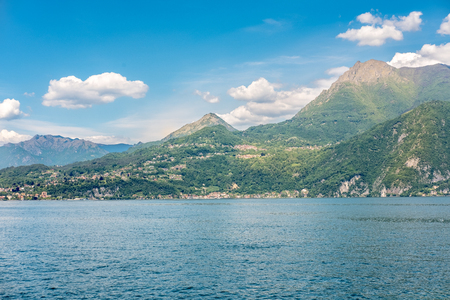 Landscape view of Lake Como, Italy.