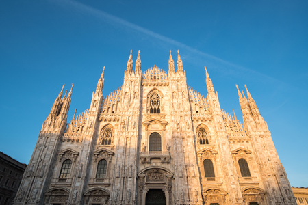Milan Cathedral or Duomo di Milano, Gothic church located in the historical center of Milan, Italy.