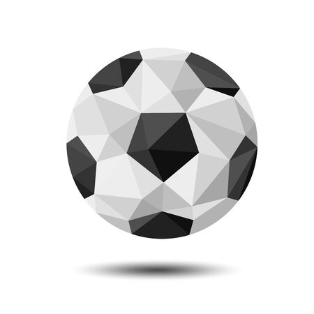 Polygon football soccer Icon on white background Ilustração