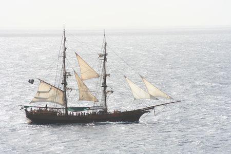 plundering: Piratenschip Stockfoto