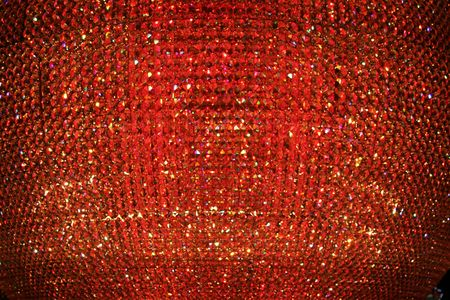 Abstract Red Crystal Background Stock Photo