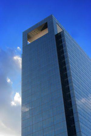 A modern medical skycraper reaching into the blue sky Stock Photo - 2597155