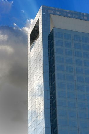 A modern medical skycraper reaching into the blue sky Stock Photo - 2597126