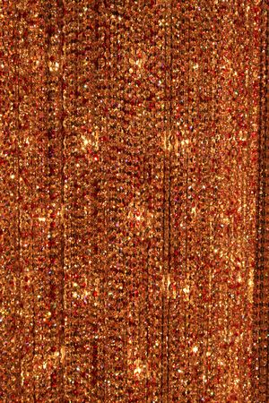 A abstract rust crystal bead background or texture.