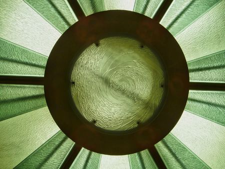A modern glass skylight that is in a ceiling Stock Photo - 2775138