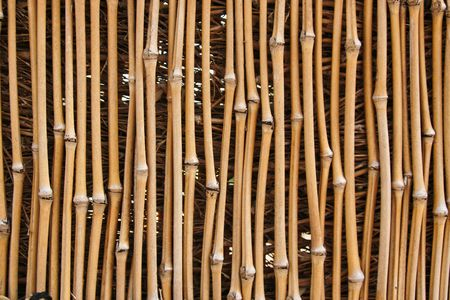 Photo of a bamboo fence that is for textures or other uses. photo