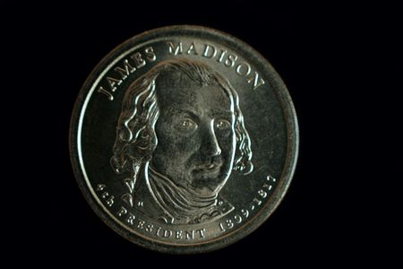 A one dollar James Madison  US coin photo