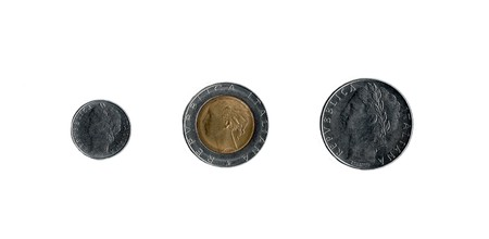 switched: Old Italian coins from before Italy switched to the Euro Stock Photo