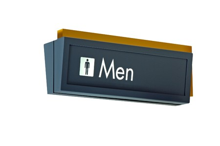 isolation: A isolation of a nice mens restroom sign