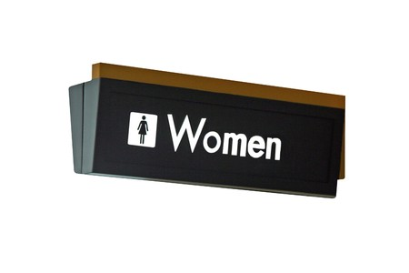 isolation: A isolation of a nice womens restroom sign Stock Photo
