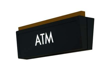 isolation: A isolation of a nice ATM sign