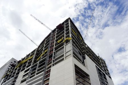 A large building that is under construction photo
