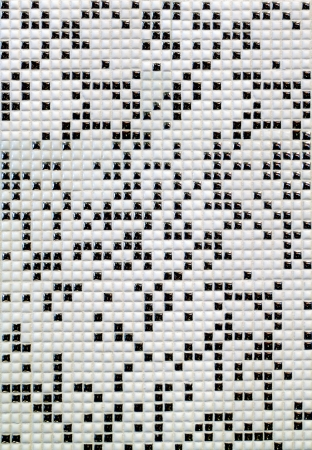 A black and white checkered tile background photo