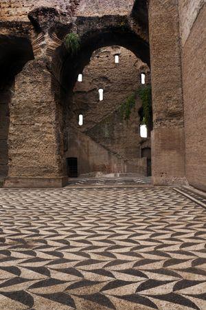 The old Roman baths known as The Baths of Caracalla - Rome, Italy