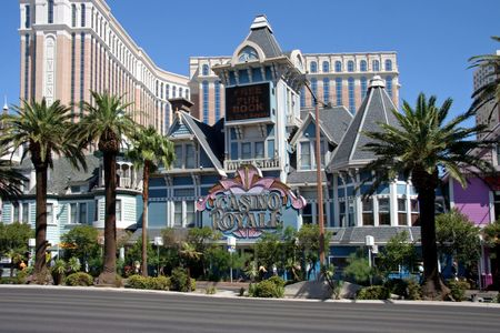 glitzy: Las Vegas, July 2009 - A exterior shot of the Casino Royal casino and hotel in Las Vegas