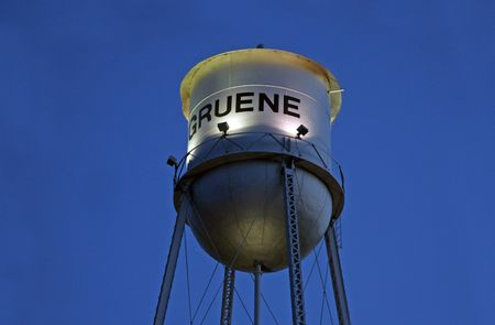 Gruene, Tx, March 2009 - The old historic water tower in the city of Gruene, Texas