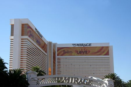 a mirage: Las Vegas, NV, July 2009 - A exterior shot of The Mirage casino and hotel in Las Vegas