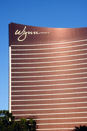 Las Vegas, NV, June 2009 - A exterior shot of the Wynn casino and hotel in Las Vegas, Nevada