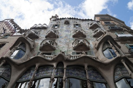 Casa Batllo in Barcelona, Spain by architect Gaudi photo