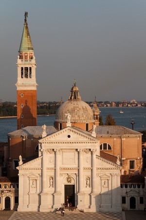 The Basilica of San Giorgio Maggiore which is on its own island in Venice, Italy photo