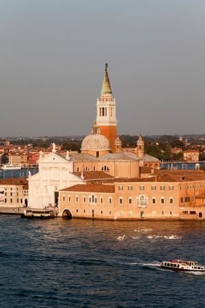 The Basilica of San Giorgio Maggiore which is on its own island in Venice, Italy photo