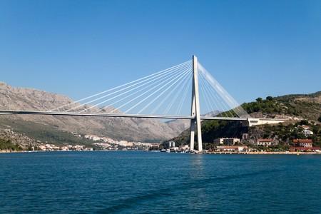 The Franjo Tudjman Bridge in Dubrovnik, Croatia photo