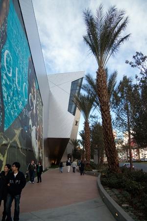 vuitton: December 30th, 2009 - Las Vegas, Nevada, USA - The facade of the Louis Vuitton Store front in The Crystals Mall.  The facade has become a interactive staple on the strip. Editorial