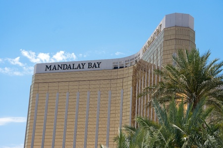 May 25th, 2009 - Las Vegas, Nevada, USA - The facade or front of the Mandalay Bay Hotel and Casino on Las Vegas Boulevard