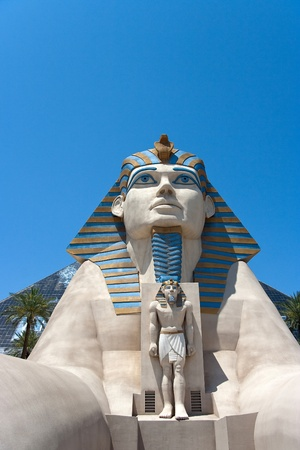 May 25th, 2009 - Las Vegas, Nevada, USA - The Sphinx entrance to the Luxor Hotel and Casino on Las Vegas Boulevard
