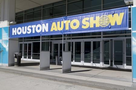 HOUSTON - JANUARY 2012: The entrance to the Houston International Auto Show on January 28, 2012 in Houston, Texas.  Editorial