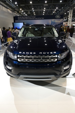 HOUSTON - JANUARY 2012: The 2012 Range Rover SUV by Land Rover at the Houston International Auto Show on January 28, 2012 in Houston, Texas. Stock Photo - 12272361