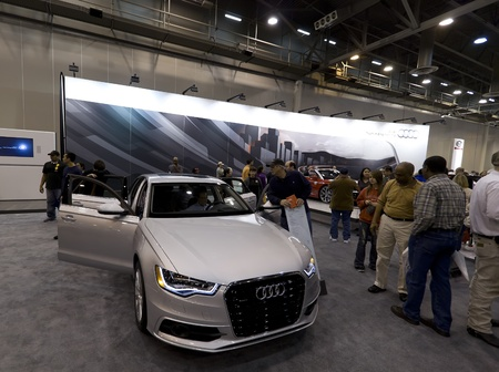 HOUSTON - JANUARY 2012: The 2012 Audi A6 luxury car at the Houston International Auto Show on January 28, 2012 in Houston, Texas. Stock Photo - 12272364