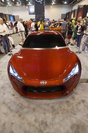 HOUSTON - JANUARY 2012: The 2012 Scion FR-S Concept sports car at the Houston International Auto Show on January 28, 2012 in Houston, Texas. Stock Photo - 12287438