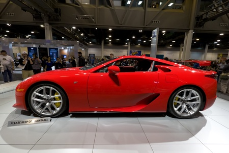 HOUSTON - JANUARY 2012: The 2012 Lexus LFA sports car at the Houston International Auto Show on January 28, 2012 in Houston, Texas. Stock Photo - 12287433