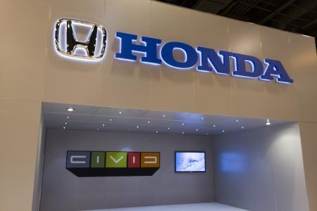 HOUSTON - JANUARY 2012: The Honda display at the Houston International Auto Show on January 28, 2012 in Houston, Texas.