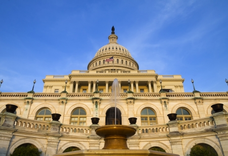 The United States Capitol Building on the mall in Washington D C