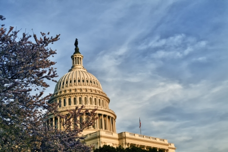 The United States Capitol Building Dome on the mall in Washington D C