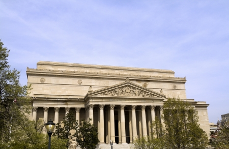 The Front of the National Archives in Washington DC Editorial