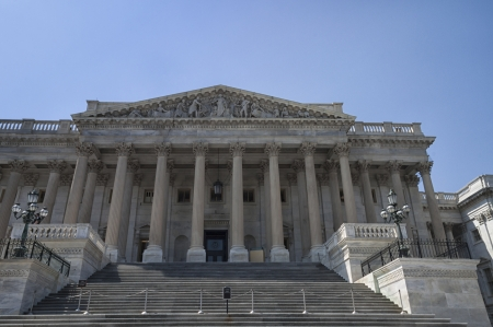 West Wing of the United States Capitol Building in Washington D C