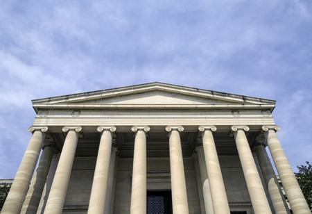 Die National Gallery of Art, Westgebäude in Washington DC Standard-Bild - 27852919