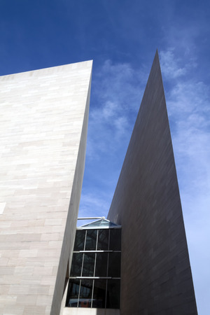 The National Gallery Of Art, east building located in Washington DC by IM Pei
