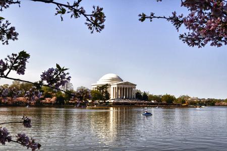 Außenfassade der Thomas Jefferson Memorial auf der Tidal Basin in Washington DC. Standard-Bild - 37904251